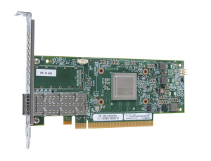 Can be configured as 4 x 10GbE, 2 x 20Gbe, 2 x 50GbE or 1 x 100GbE. Supports NAS, iSCSI and FCoE storage.